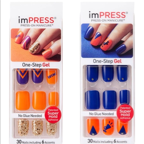 impress Other | Set 2 Kiss Nails Houston Astros Colors | Poshmark
